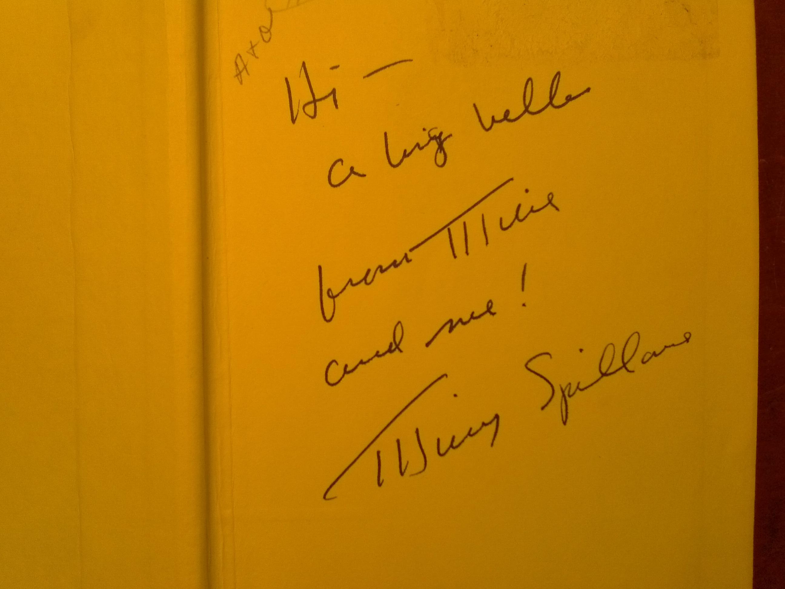 Mickey Spillane's Autograph